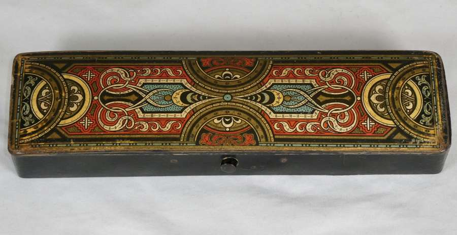 Early 20th century Papier Maché Pen Box