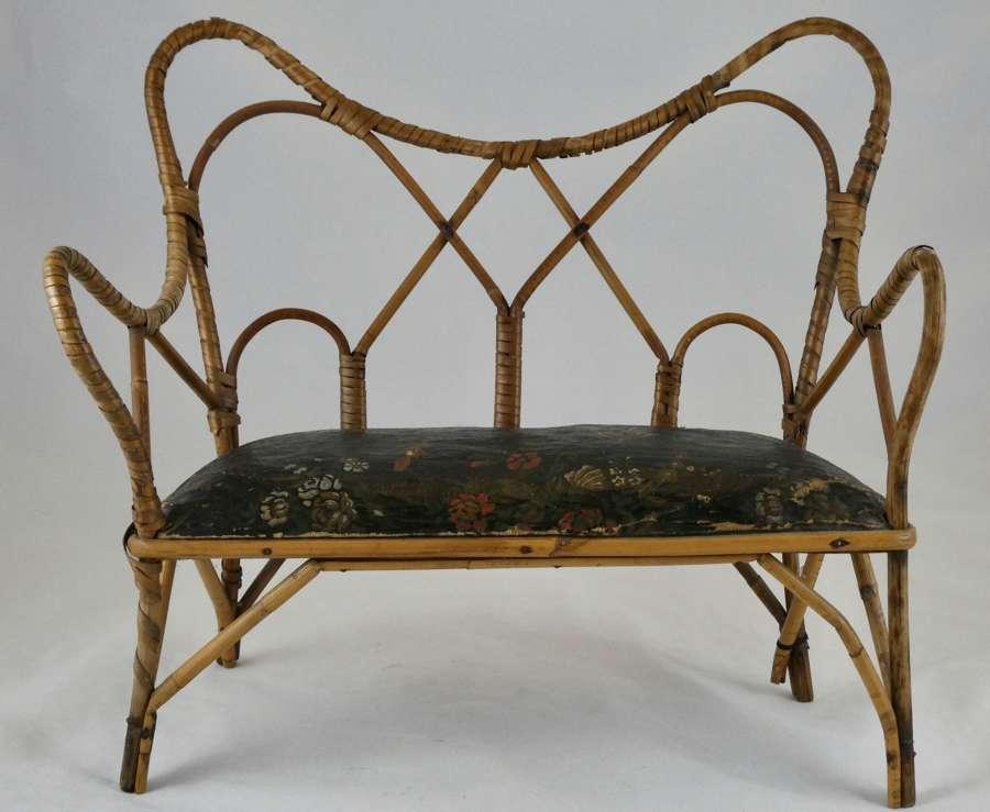 Early 20th century Miniature Wicker Sofa