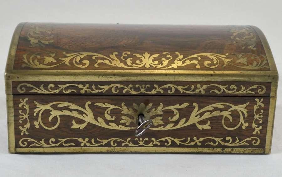 Regency Brass Inlaid Rosewood Box