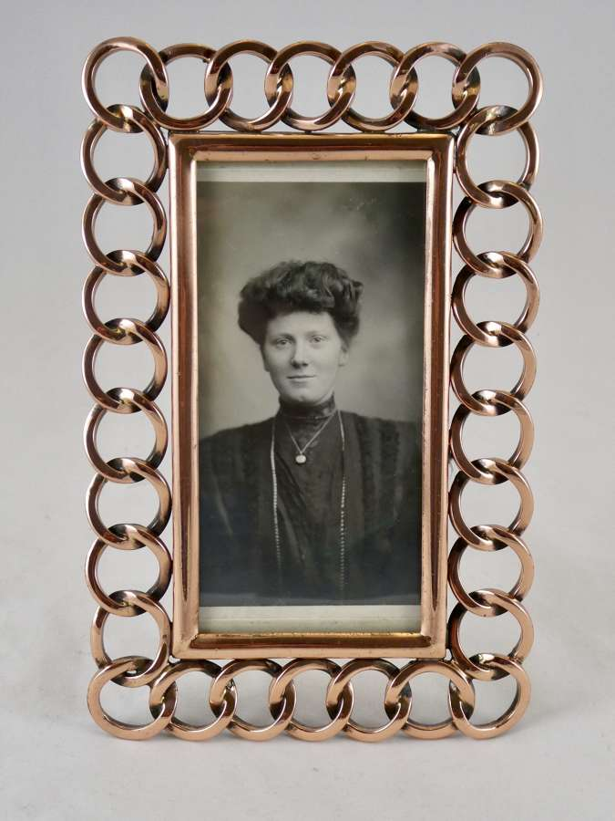 Victorian Copper Ring Photo Frame