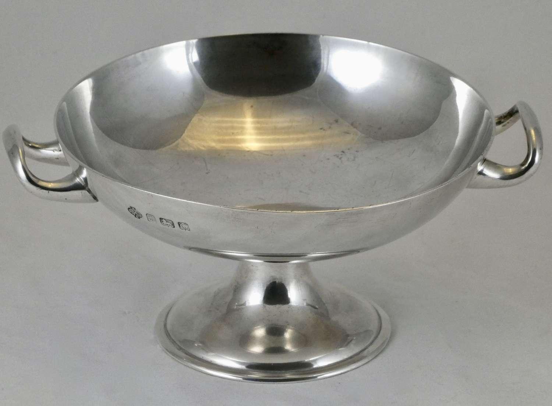 George V Pedestal Silver Bowl