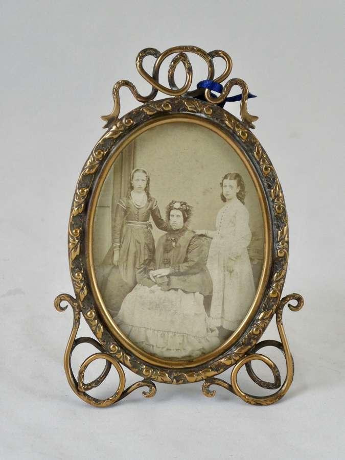 19th Century Brass Photo Frame
