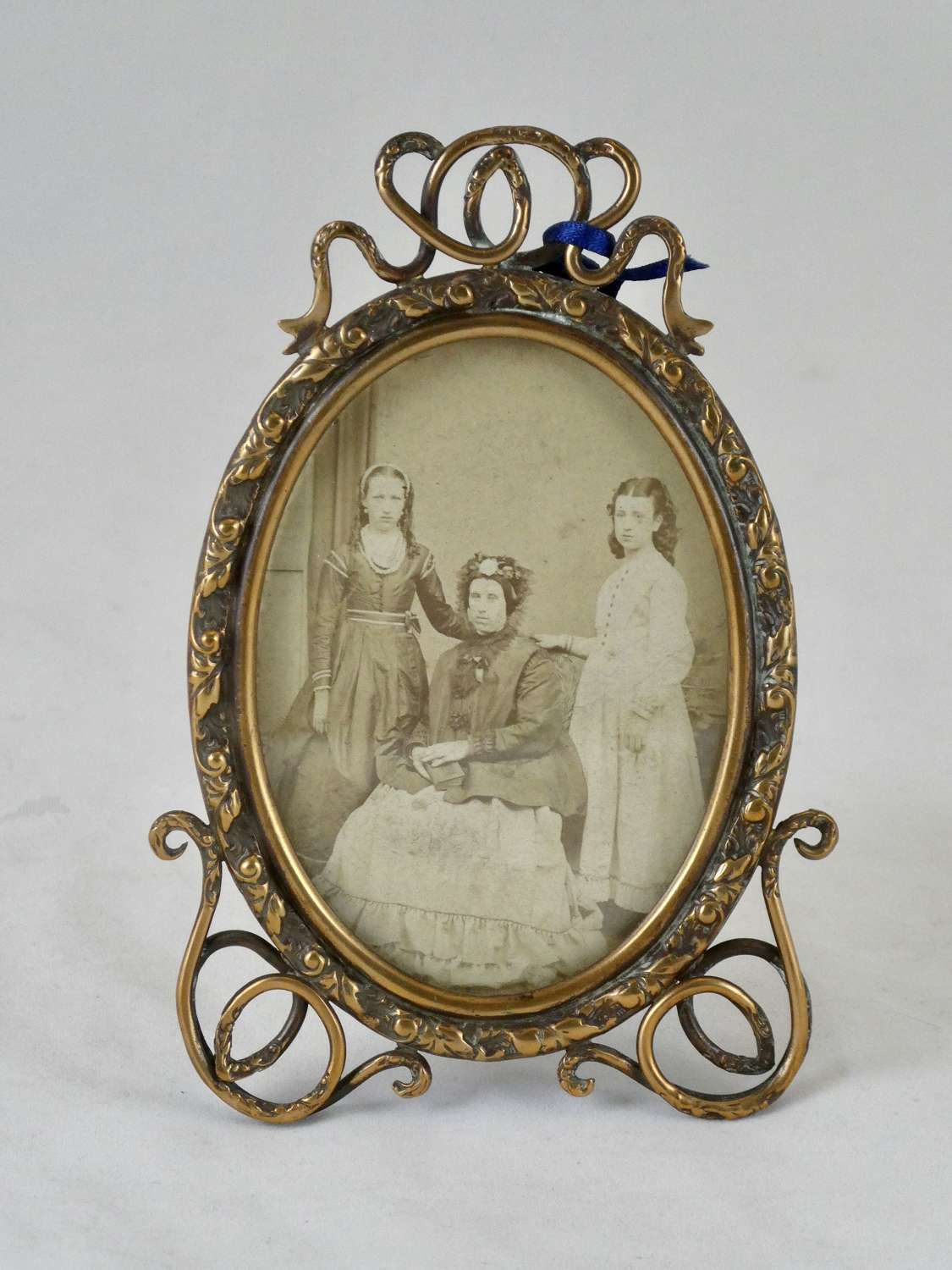 19th Century Brass Photo Frame