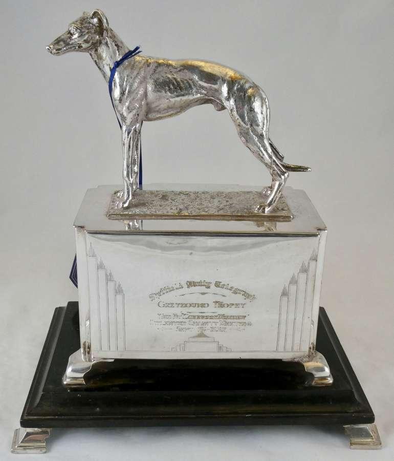 Silver Plated Trophy Cedar-lined Cigar Box