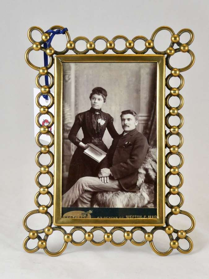 Brass Link Photo Frame, circa 1900