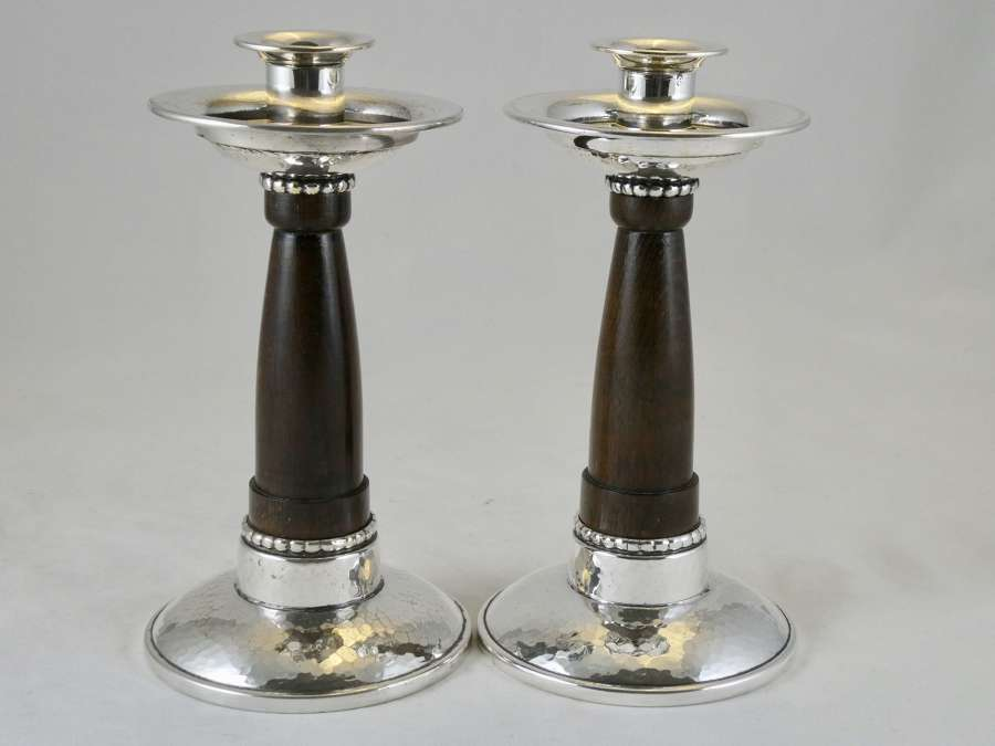 Pair of WMF Secessionist Candlesticks
