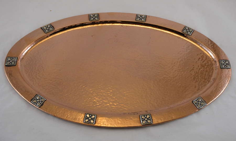 Arts & Crafts Copper Tray