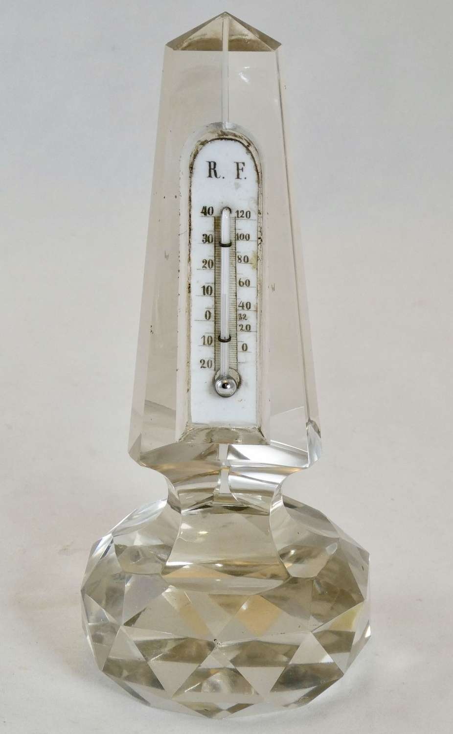 Glass Obelisk Thermometer Reaumur Scale