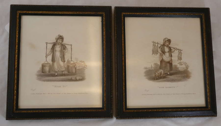 Pair of 'Cries of London' Engravings