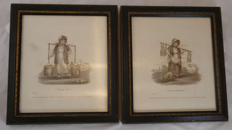 Pair of 'Cries of London' Engravings