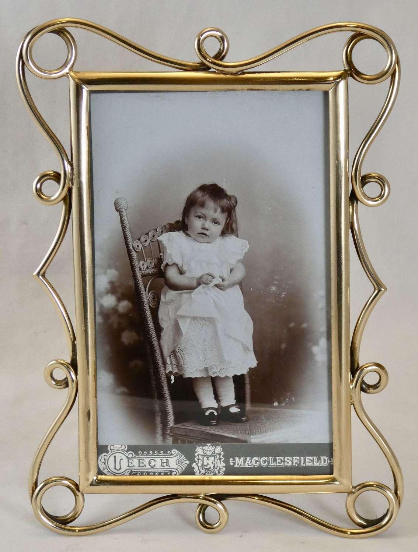 Brass Art Nouveau Photo Frame