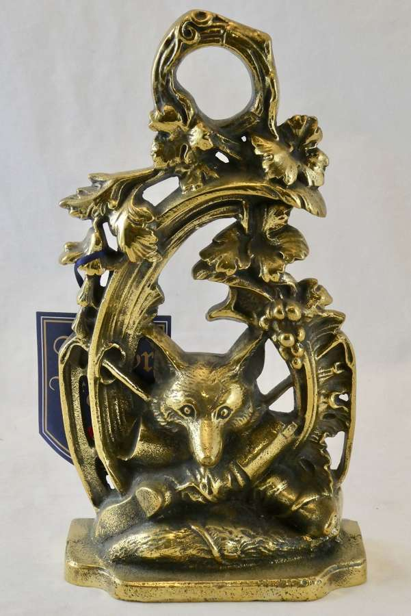 Brass Hunting Doorstop by Kenrick