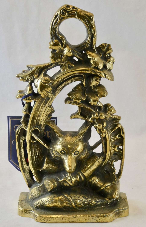 Brass Hunting Doorstop by Kenrick