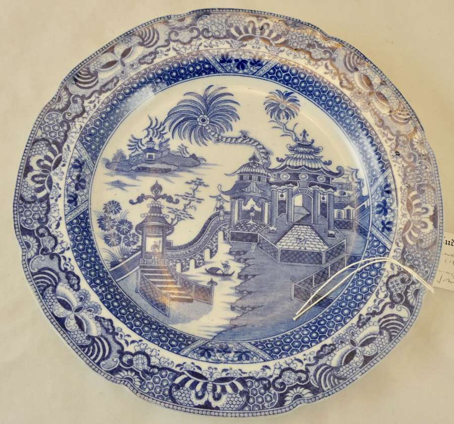Pearlware Plate by John Ridgway