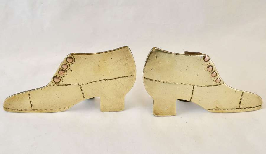 Pair of Brass and Copper Boots