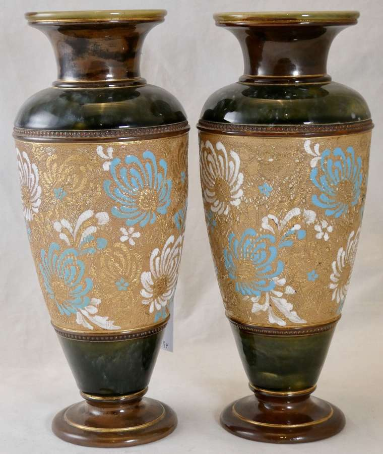 Pair of Doulton Vases, circa 1900