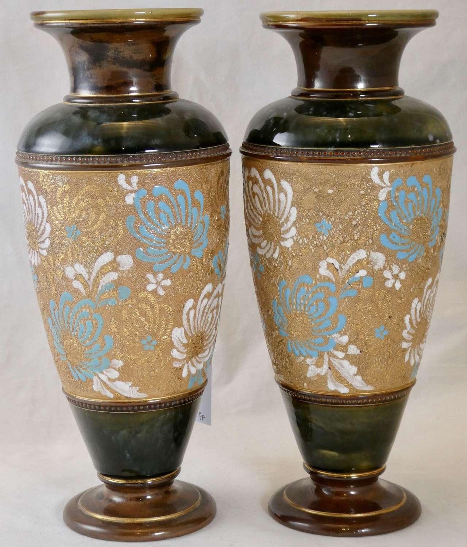 Pair of Doulton Vases, circa 1900