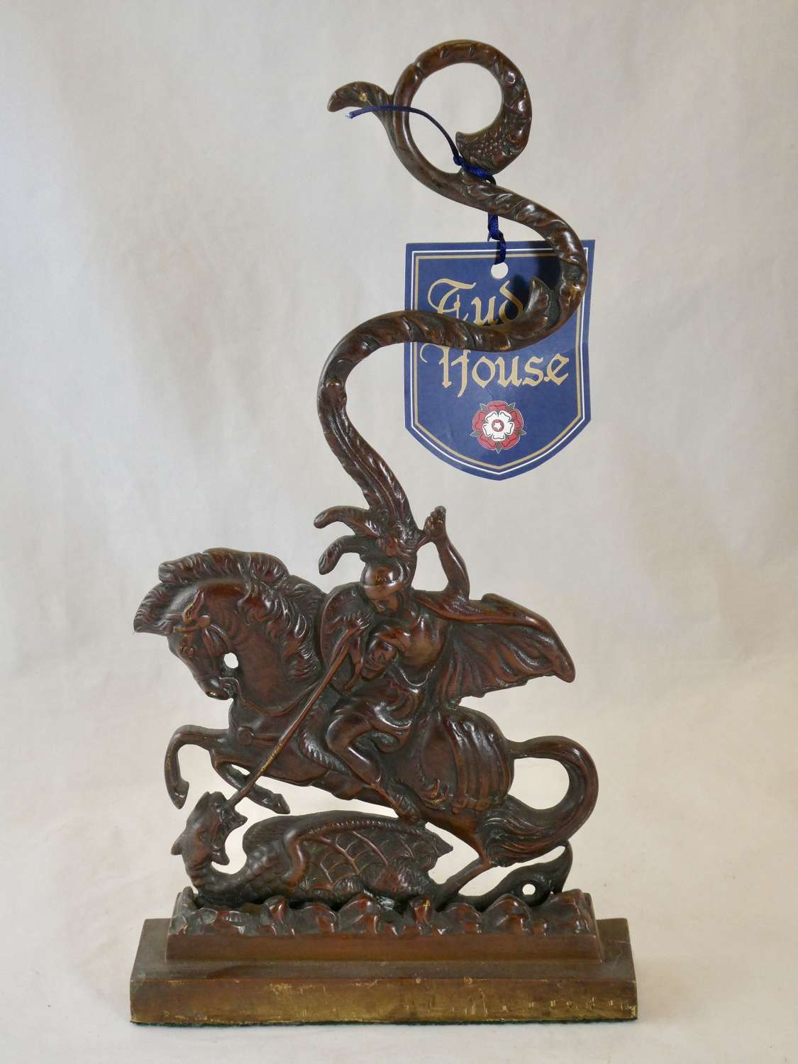 George and Dragon Brass Doorstop
