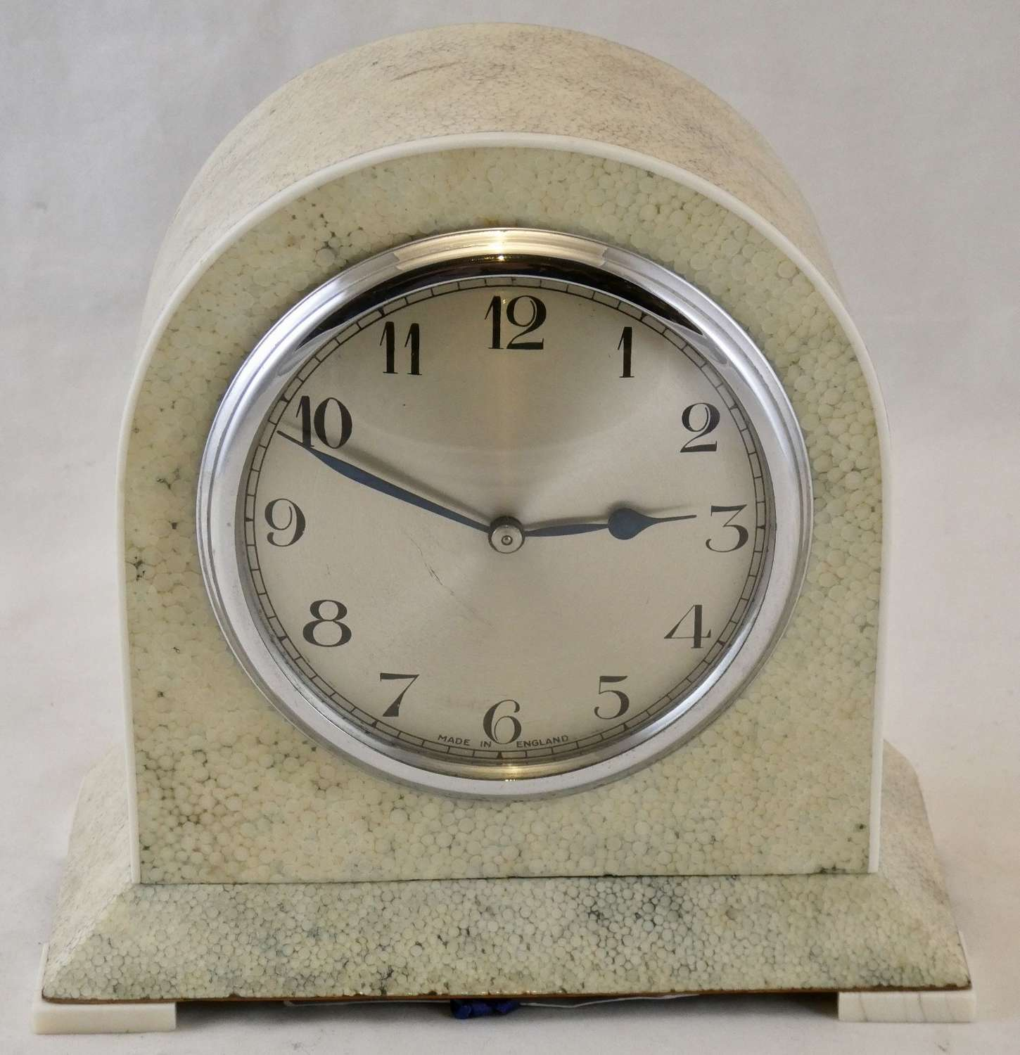 1930s Shagreen Cased Mantel Clock