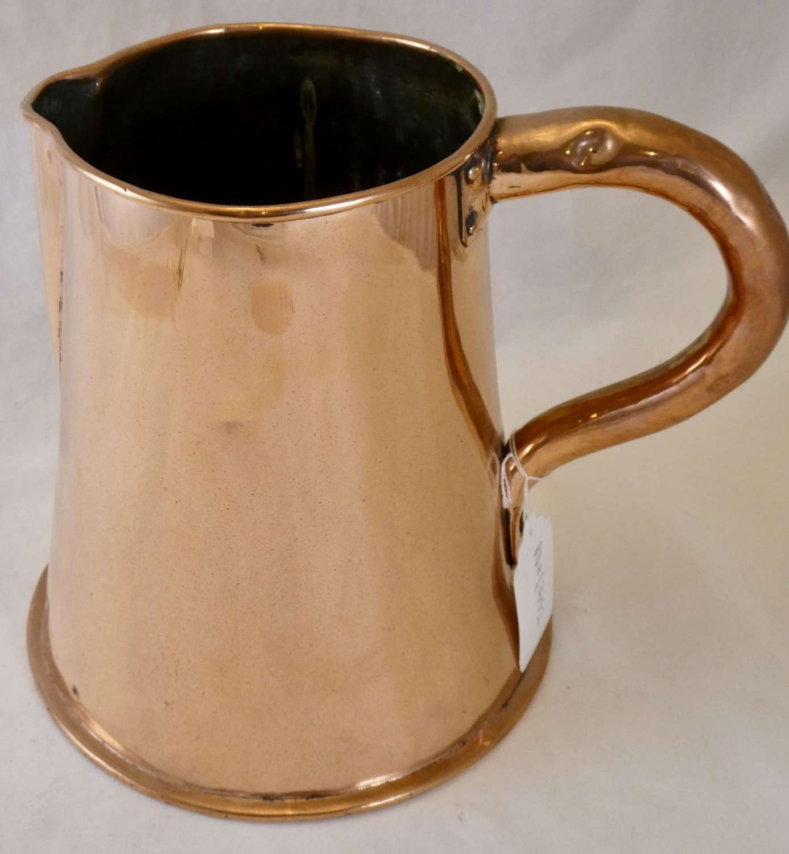 Copper Ale Jug, 19th century
