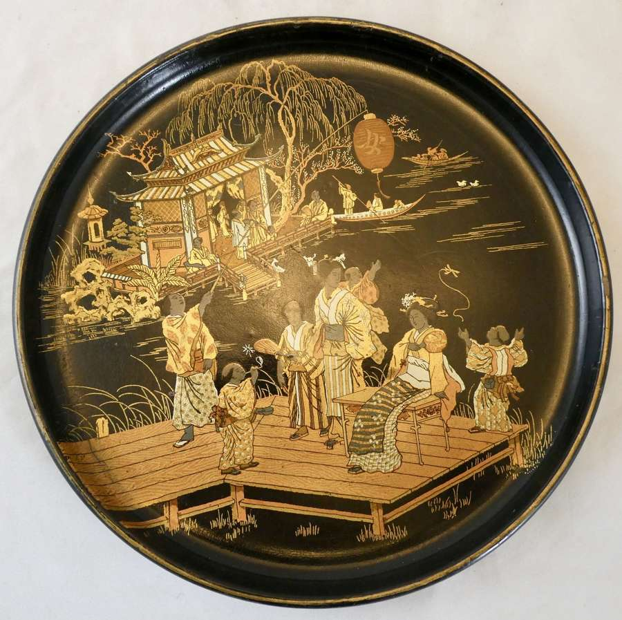 19th Century Lacquered Papier Maché Tray