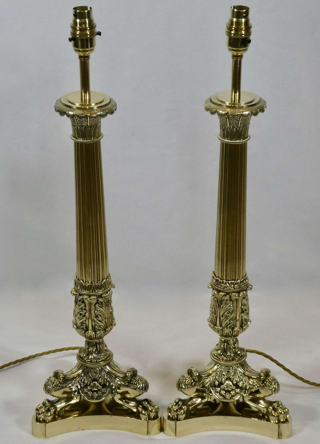 Pair of 2nd Empire Candlesticks Adapted as Lamps