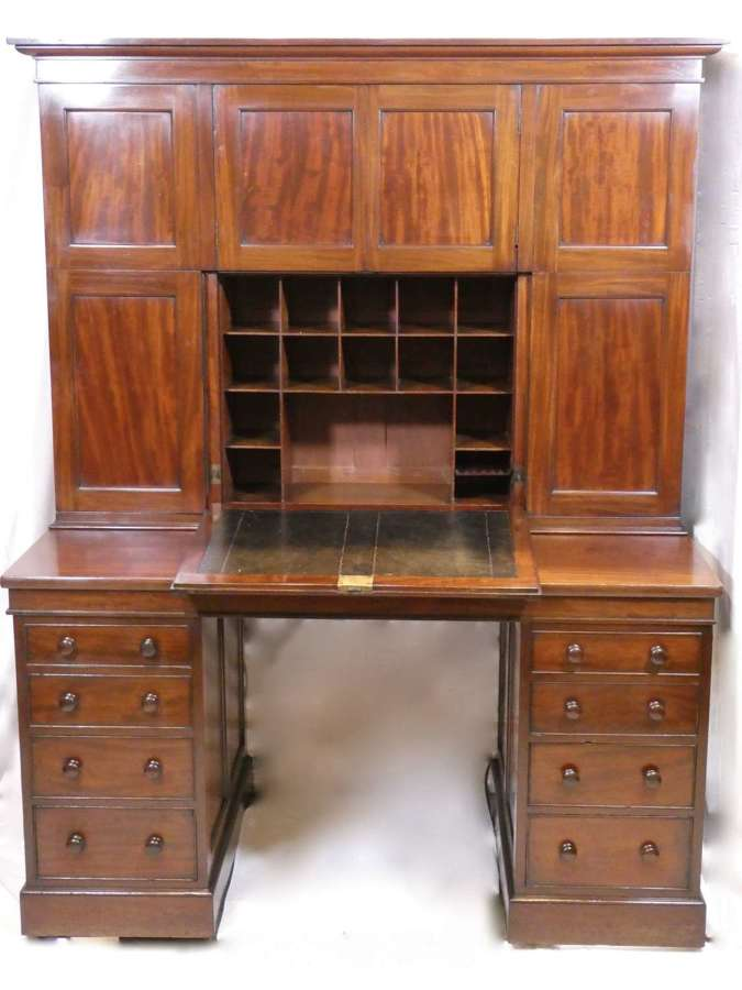 Mahogany Desk and Cabinet