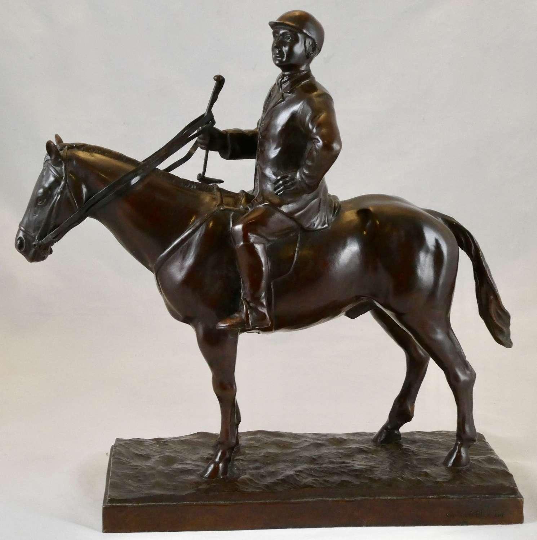 Bronze Horse and Jockey