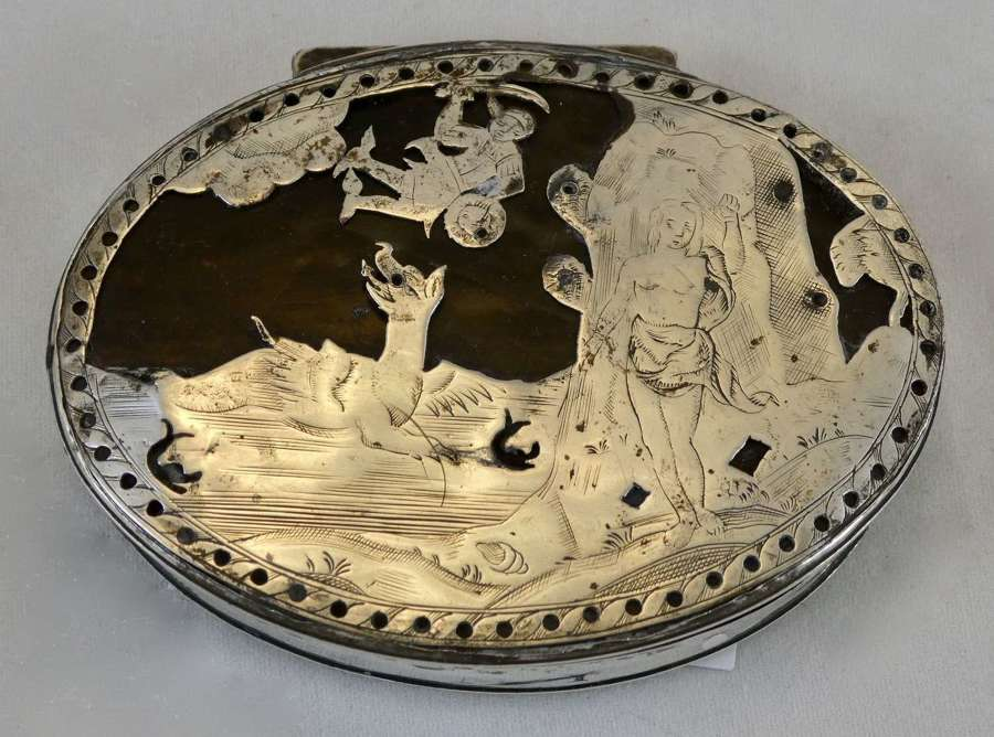 Silver and Tortoiseshell Snuff Box