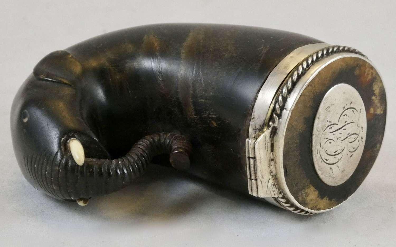 Horn Snuff Box, circa 1800
