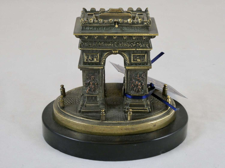 19th Century Grand Tour Bronze Arc de Triomphe