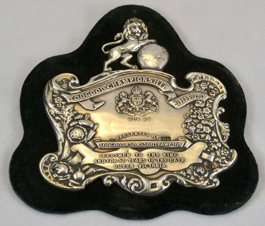 Edwardian Silver Horticultural Shield