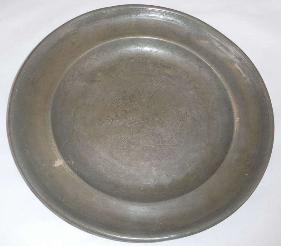 Late 18th Century Polish Pewter Dish