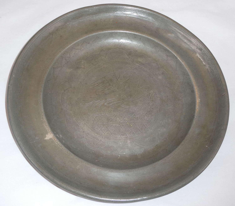 Late 18th Century Polish Pewter Dish