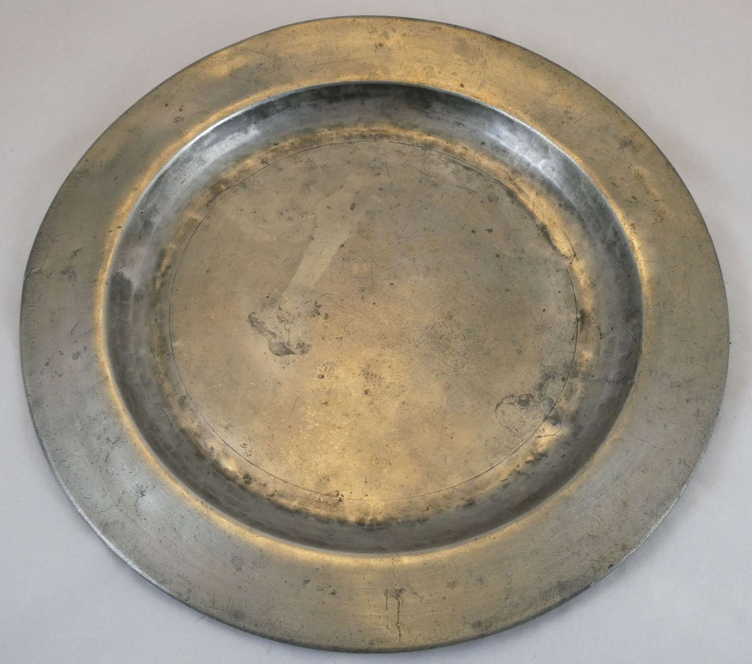 Late 18th Century Pewter Charger