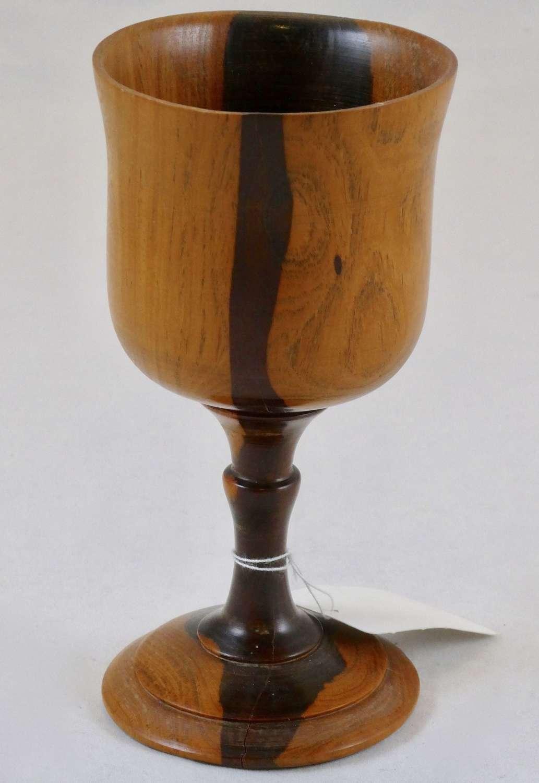 19th Century Lignum Vitae Goblet