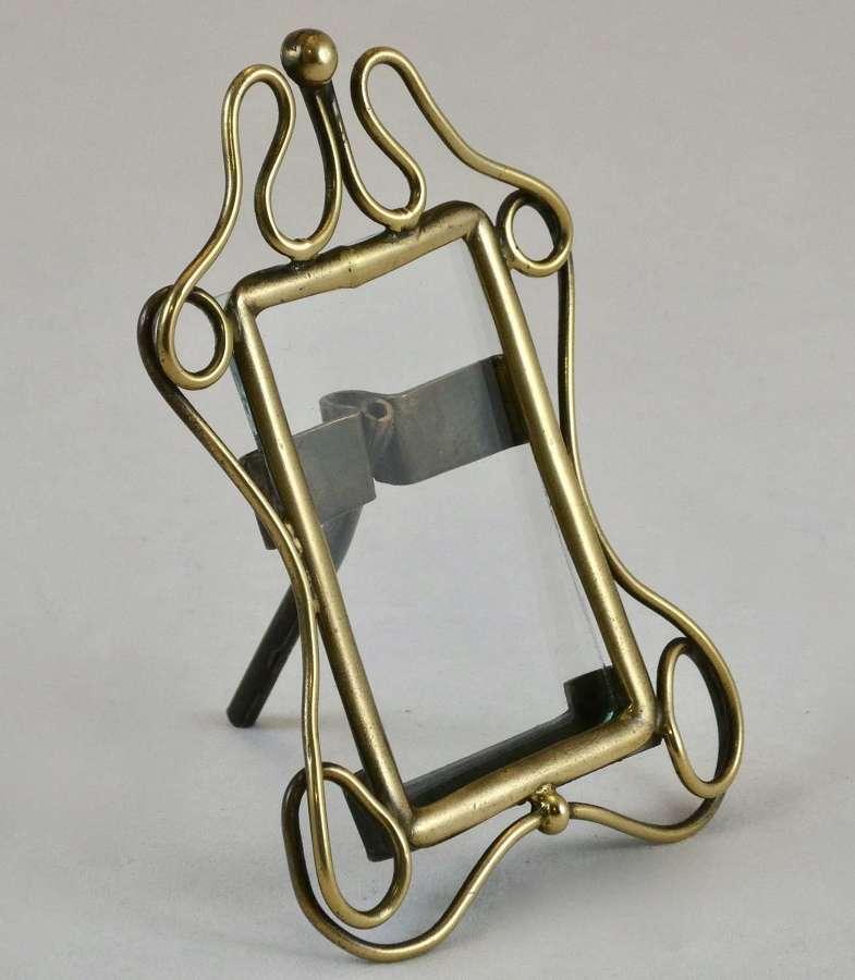 Small Art Nouveau Brass Frame