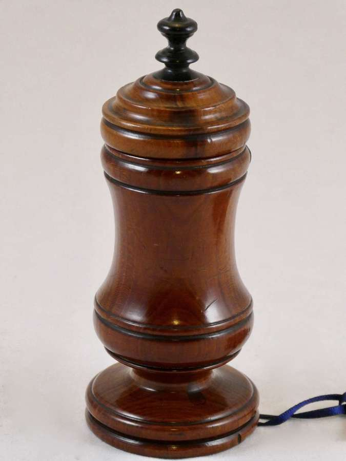 19th Century Fruitwood Spice Pot