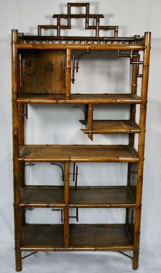 Bamboo Shelf Display Unit