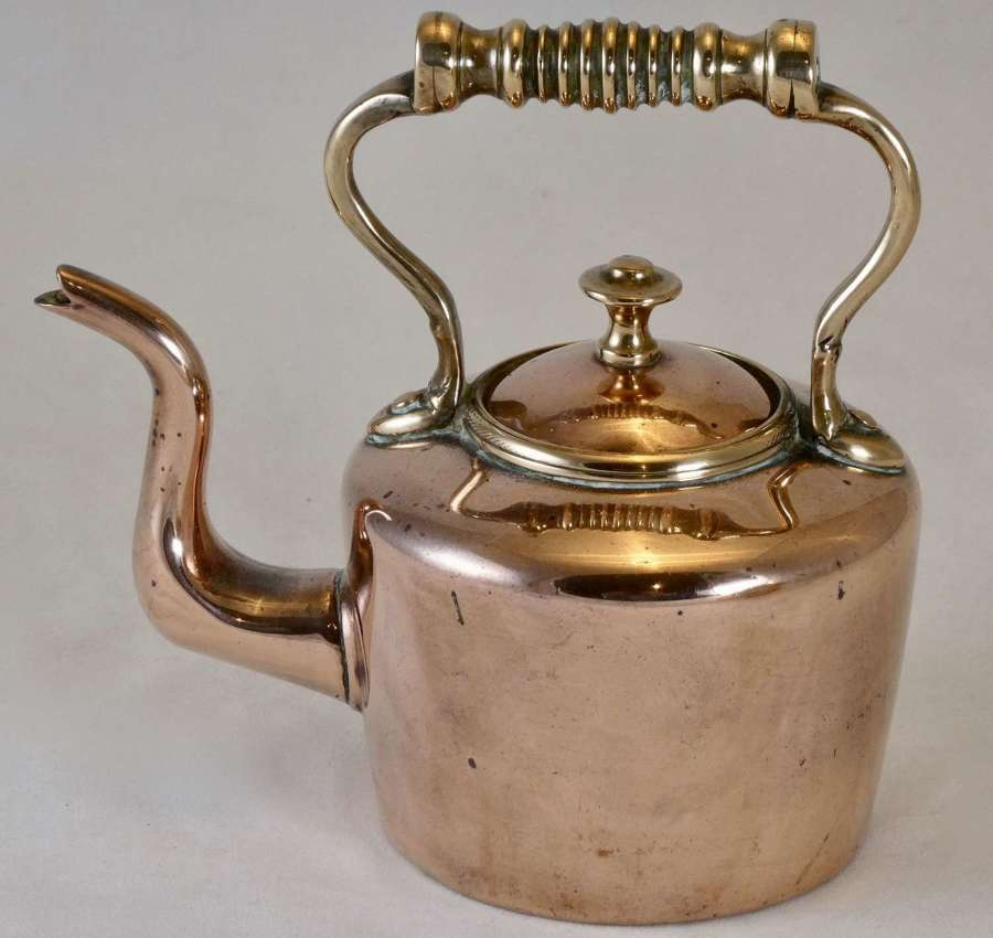 19th Century Miniature Copper Kettle