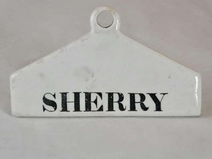 19th Century 'Sherry' Bin Label, Minton
