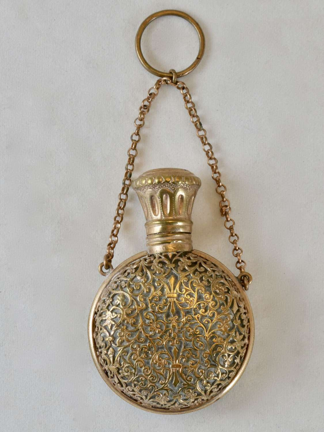 19th Century Glass and Gilt Metal Scent Bottle