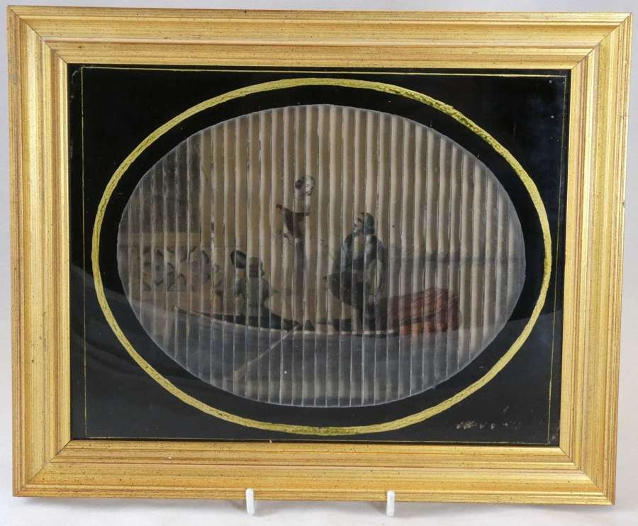 19th Century Rare 3-D Lithograph Picture