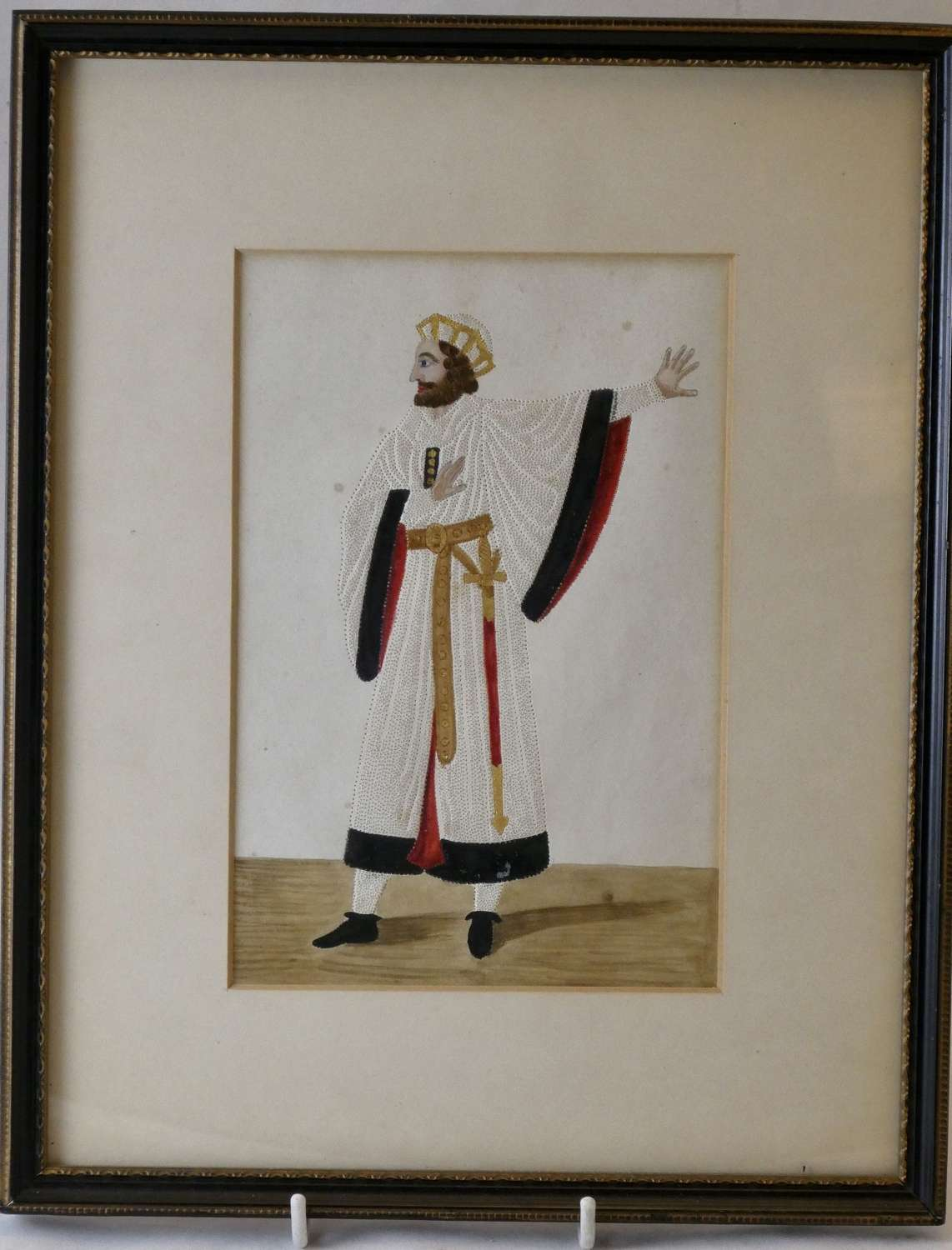 19th Century Watercolour and Pricked Paper Picture