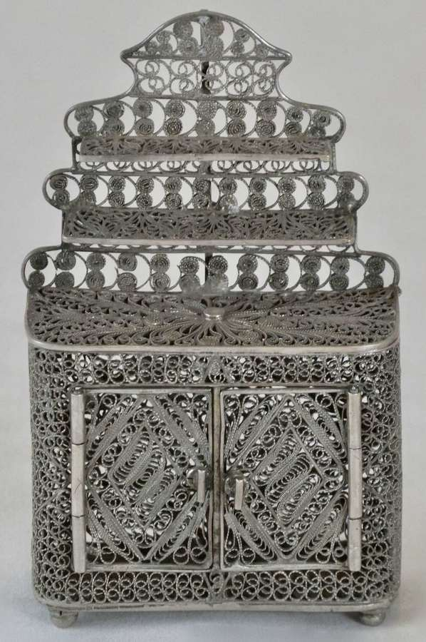 19th Century Filigree Silver Dresser