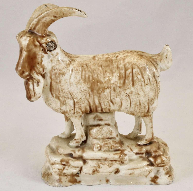 Rare Scottish Creamware Goat