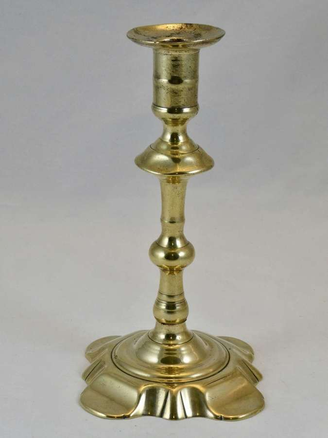 Tall Seamed Brass Candlestick