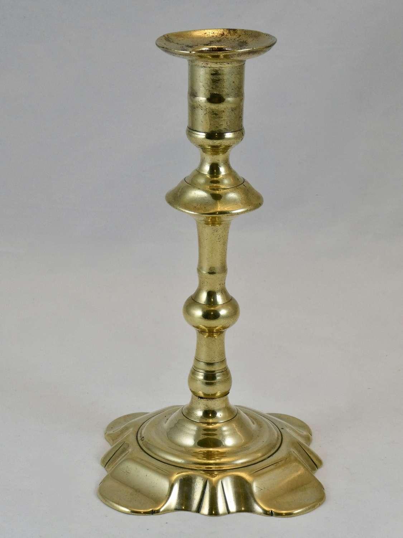 Tall Seamed Brass Candlestick