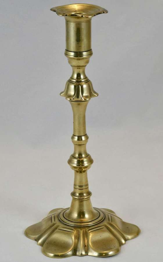 Late 18th Century Brass Candlestick