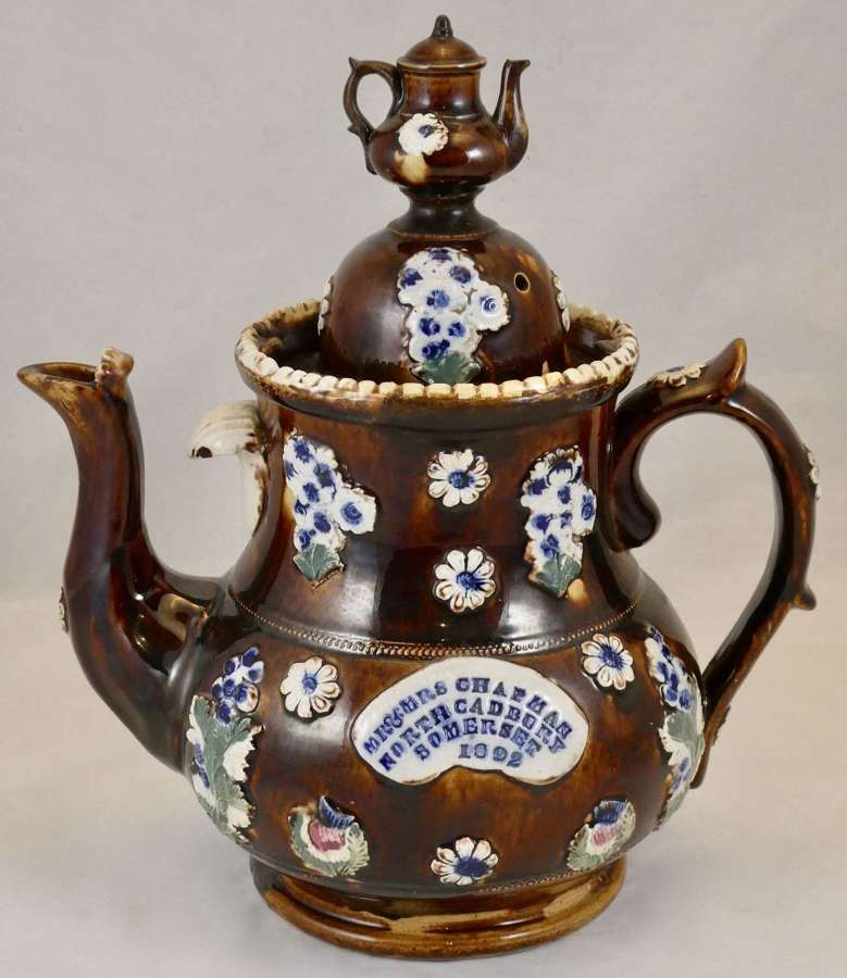 19th Century Bargeware Teapot